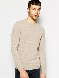 United Colors Of Benetton Merino Wool Jumper With Crew Neck