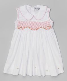 Loving this White Lyna Peter Pan Collar Dress - Infant, Toddler & Girls on #zulily! #zulilyfinds