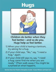 Positive Discipline: Hugs: A Positive Discipline Tool Card