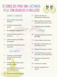 #MamáTip: 21 consejos para una lactancia feliz con gemelos o mellizos