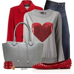 Grey and Red Valentine Set :)