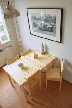 Kitchen table and chairs #wood #diy #crafts