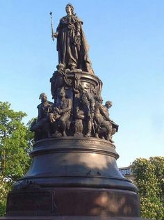 Monument to Catherine the Great,St Petersburg,Russia