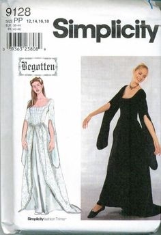 f0aee09e19 Renaissance Costume Sewing Pattern Simplicity Begotten Series 9128 Out .