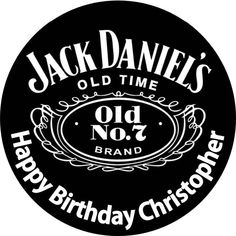 Personalised edible icing sheet wafer paper jack daniels for Pochoir jack daniels