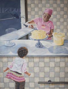 "Saatchi Online Artist: Regine Freise; Oil, 2012, Painting ""Lemon Cake"""