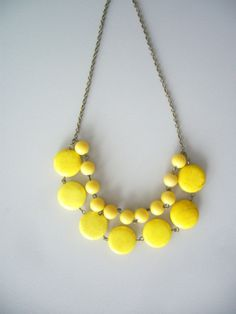 Yellow necklace by stavroula on Etsy, $34.00