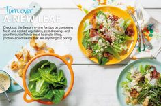 Salads don't have to be boring. Try our juicy, fresh and healthy recipes to spruce up an old favourite. Living Magazine, New Leaf, The Fresh, Thai Red Curry, Salads, Good Food, Healthy Recipes, Entertaining, Vegetables