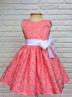 Vestido Festa Floral Arabesco Rosa
