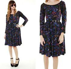 50s floral dress