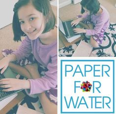 Angelica, 9 years old - hopes tons of people will join her to raise money to build wells in India and Africa!! Her goal is to donate: $25,000 to Paper For Water for clean water for the thirsty!! www.paperforwater.org