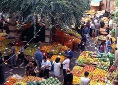 Fruit market on the island of Madeira, Portugal.