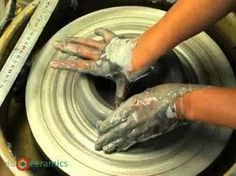 Atelier ArTgile - Poterie - COURS/Le tournage: le cylindre - YouTube