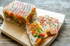 Chicken galantine with vegetables by Alexander Prokopenko on Lamb Recipes, Sweet Recipes, Vegetarian Recipes, Cooked Cucumber, Appetizer Sandwiches, Homemade Jelly, Turkey Dishes, Russian Recipes, Recipes