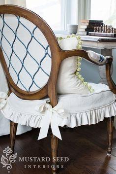 chair slip cover tutorial