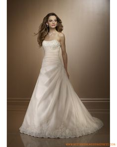 Elegant A-line Ruched Hall Strapless Organza Bridal Gown Strapless Lace Wedding Dress, Wedding Dress Train, Applique Wedding Dress, Princess Wedding Dresses, White Wedding Dresses, Cheap Wedding Dress, Bridal Dresses, Wedding Gowns, Strapless Organza