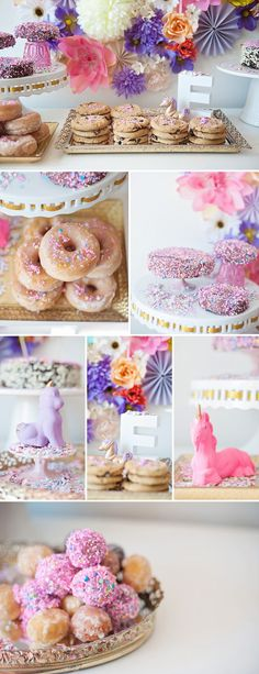 unicorn theme birthday party @Stephanie Close Forando joint b'day party next year?