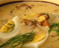 Quick potato sauce with mushrooms Good Food, Yummy Food, Tasty, Czech Recipes, Ethnic Recipes, Potato Sauce, Food 52, Cheeseburger Chowder, Allrecipes
