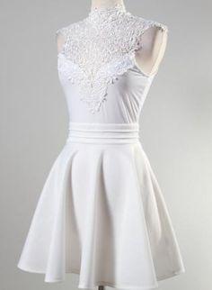 White dresses on pinterest rehearsal dinner dresses for Wedding dresses straight cut