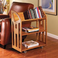 I read a lot, so this is a dream gift for me!  Book Buggy Bookcase - Wood Bookcase, Library Bookcase, Library Cart - Levenger