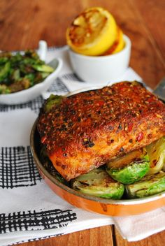 I have been on a fish kick since yesterday. Sardines for dinner and breakfast then this cajun salmon for dinner. There seems to be an abundance of brussels sprouts at the grocery store and at 88 ce...