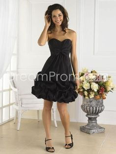 Gorgeous Ruffles Bowknot Sweetheart Knee-length Bridesmaid Dresses
