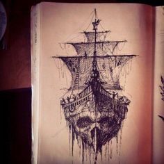 """Seriously thinking about this for my lower back to start my pirate theme. With maybe """"Dead men tell no tells."""" Somewhere around it."""