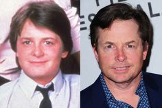 Michael J. Fox played Alex on Family ties. Then and now in 2012