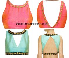 Blouse designs with sequin borders