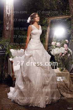 Wedding dress with lace pickups!