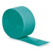 Tropical Teal Crepe Paper Streamer