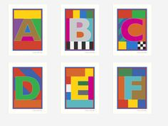 """Peter Blake """"Dazzle Alphabet""""(2017) Individual Silk Screen Letters with metallic inks and Gloss Varnish. Each an Edition of 100."""