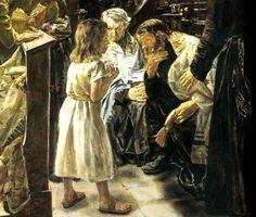 Joyful - Finding Jesus in the Temple, Artist - Max Lieberman, The Twelve Year Old Jesus in the Temple.