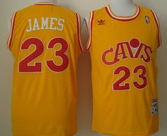 Cleveland Cavaliers #23 LeBron James CavFanatic Yellow Swingman Throwback Jersey