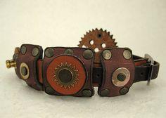 092 Nordic Steampunk Bracelet Industrial Viking by ShabbyLuxury