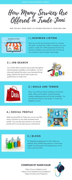 Know about the services offered by Trade Jinni - A 100% verified platform for business listing, jobs search, deals and tenders and social profile. Make a wish at tradejinni.com now.