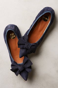 Highbow Suede Skimmers - anthropologie.com