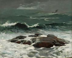 WINSLOW HOMER  Summer Squall  Oil on Canvas  24.25″ x 30.25″