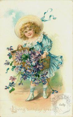 (227) Gallery.ru / Фото #23 - vintage postal cards (large model)4 - florette