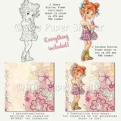 Spring Style - Digital Stamp
