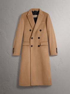 Image result for Double-breasted Extra Long Wool Cashmere Coat