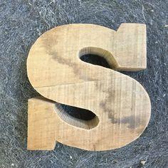 S for silver, Sandro and Sam. #woodenletters #lettereinleg