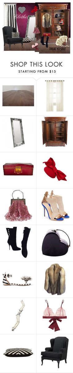 """""""Treat yo'self - Clothes."""" by kerry-chesterman on Polyvore featuring Royal Velvet, House of Holland, Giuseppe Zanotti, Moschino, Monse, Anne Klein, Nadri, Fleur of England, Jayson Home and Eichholtz"""