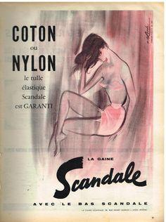 Publicité Advertising 1958 Lingerie Sous Vetements Soutien Gorge Gaine Scandale   eBay