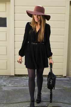 wear your favorite frock with tights for an all-seasons-appropriate look