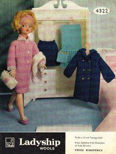 Knitting Pattern 12 inch Sindy Fashion Doll Vintage   eBay