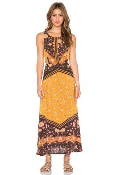 Free People Sunrise Oblivion Dress in Antique Gold Combo in Anitque Gold Combo | REVOLVE
