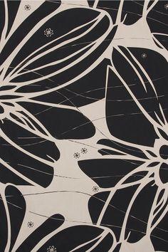 Canvas Fabric - Bloom (chino/black) - Surface Art