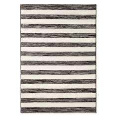 www.target.com p outdoor-rug-worn-stripe-black-threshold - A-51598108