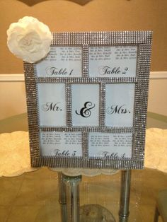 PRIVATE LISTING - Bling Mr & Mrs. Sign Wedding Reception Cake Table ...